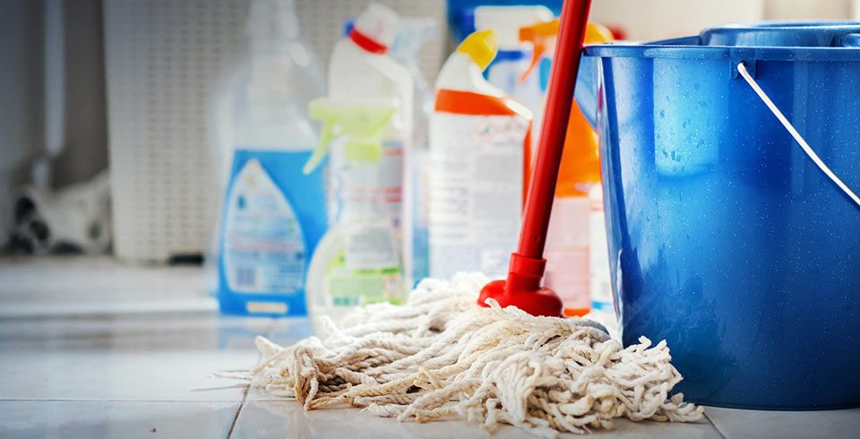Chlorine in cleaning detergents